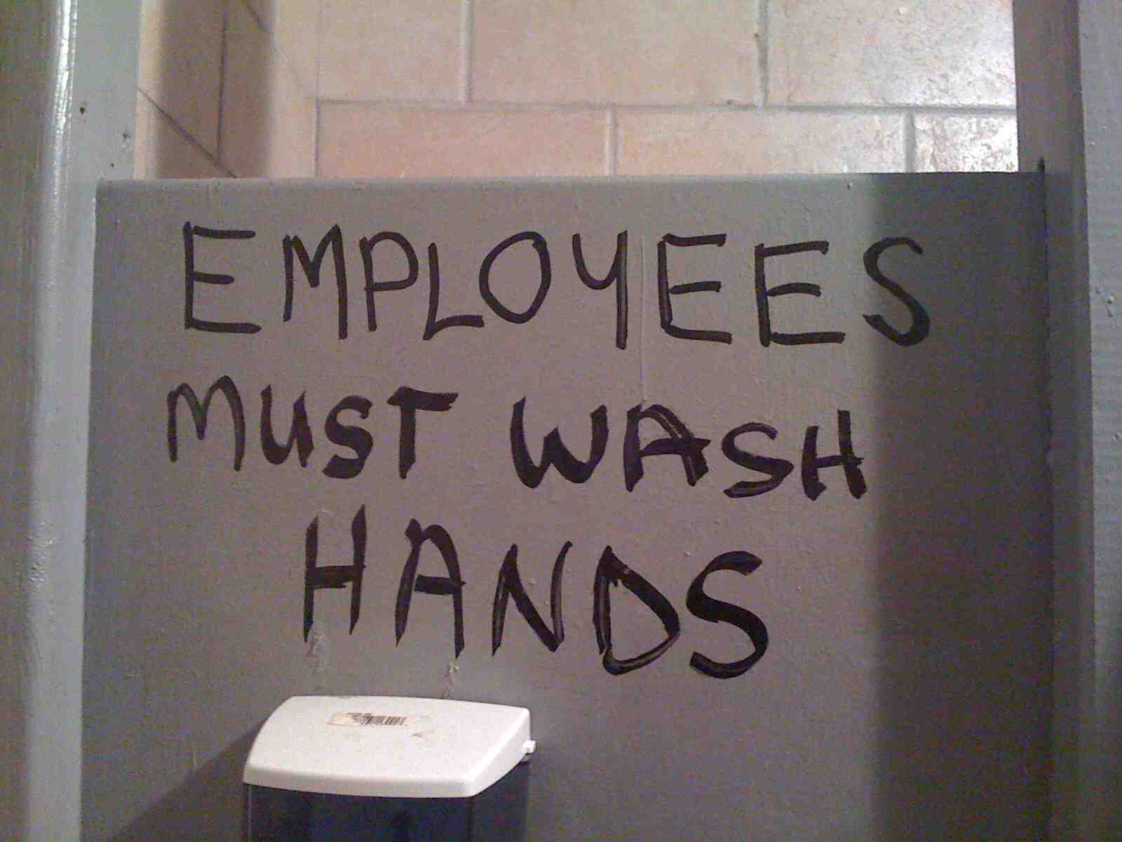 NYC - Bar None - Empoyees Must Wash Hands
