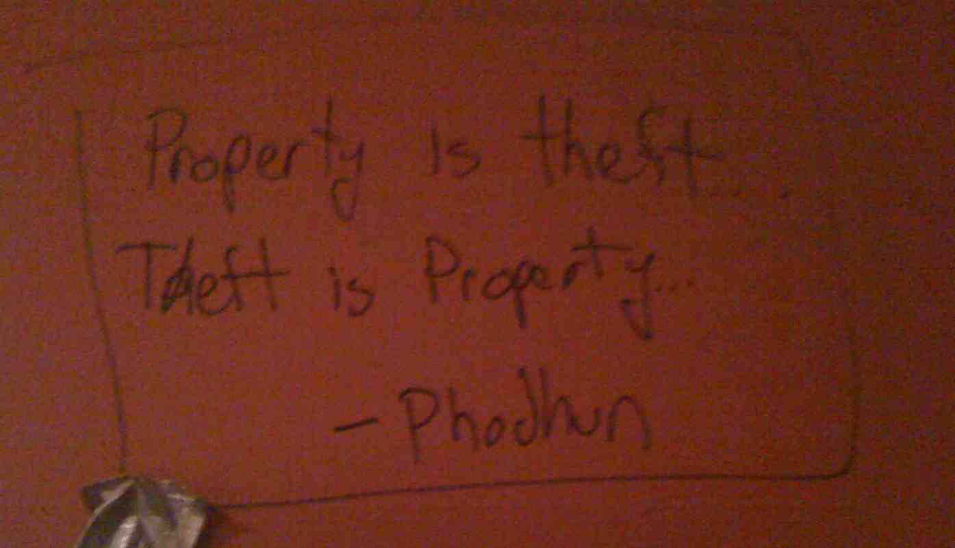 NYC - Doc Holliday's - Property is Theft, Theft is Property