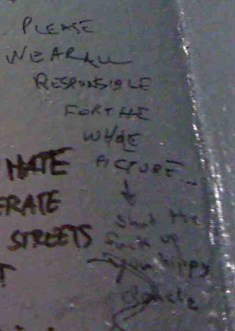 NYC - Vazacs Horseshoe Bar - A: Please we are all responsible for the whole picture... B: Shut the f up you hippy douche