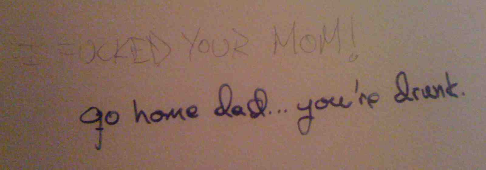 SF - Kezar Bar & Grill - A: I f'd your mom B: go home dad you're drunk