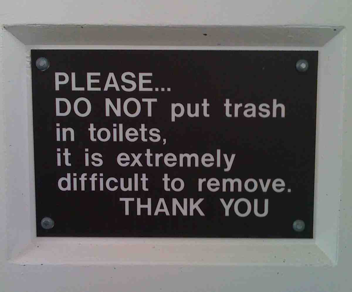 Joshua Tree - PLEASE...DO NOT put trash in toilets.  It is extremely difficult to remove.  THANK YOU