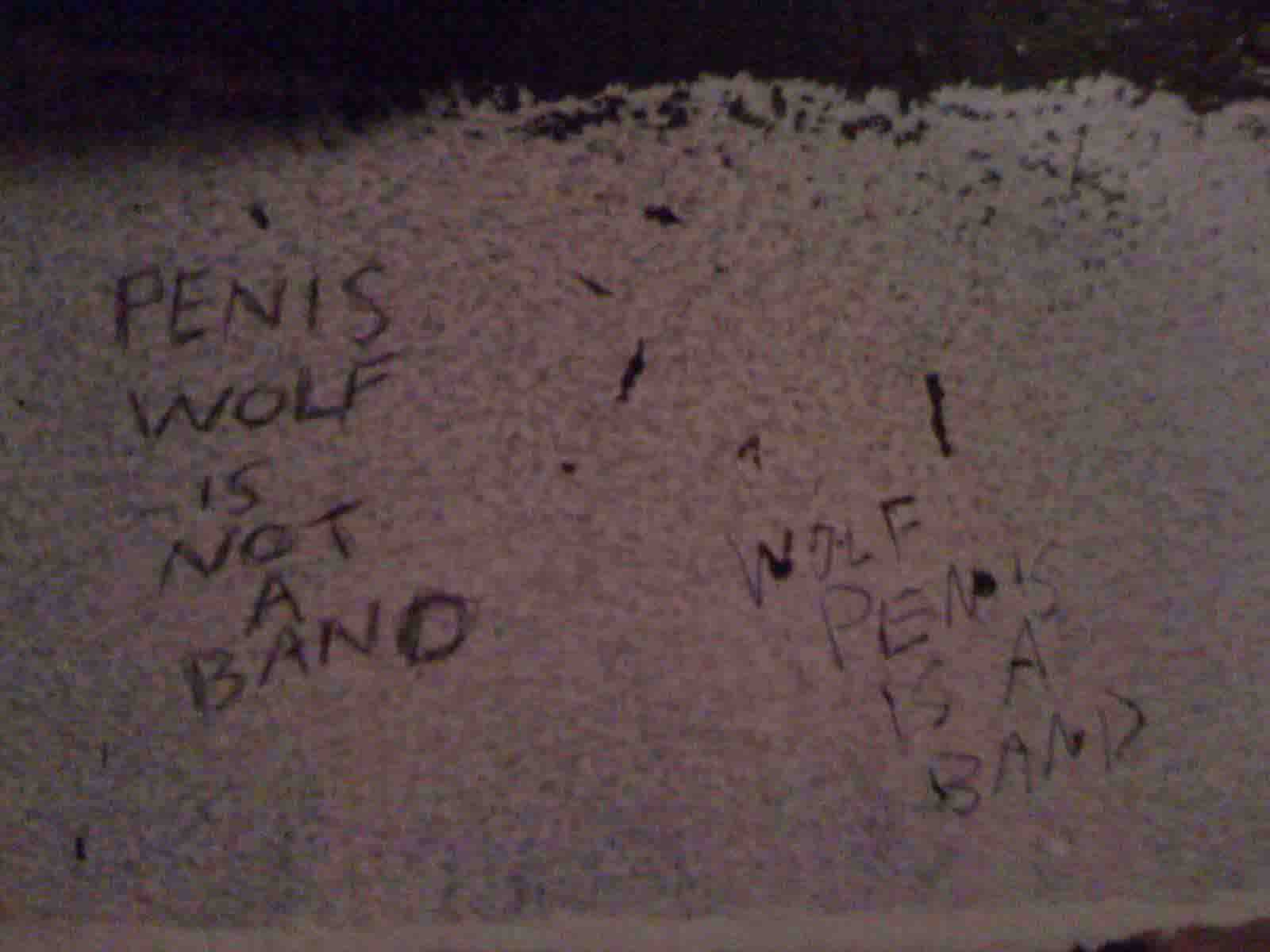 NYC - HiFi - A: Wolf Penis is a Band B: Penis Wolf is Not a Band